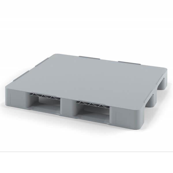 Паллет полимерный сплошной 1200х800х150 мм на 3 полозьях
