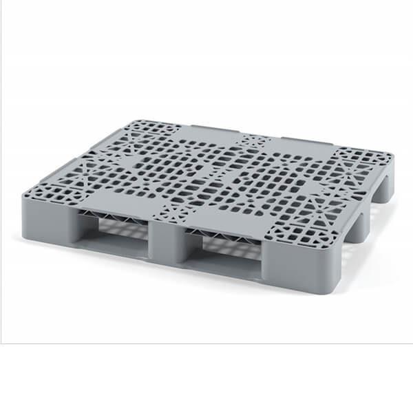 Паллет пластиковый перфорированный 1200х800х150 мм на 2 полозьях