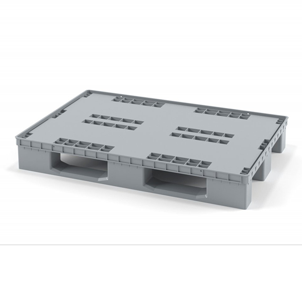 Поддон перфорированный полимерный 1200х800х160 мм на 3 полозьях