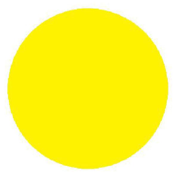 Круг желтый для стеклянных дверей 200х200 мм