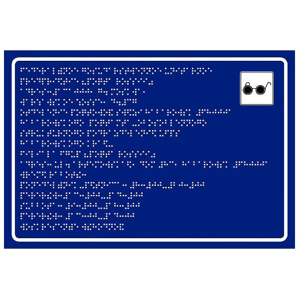 Тактильные таблички со шрифтом Брайля 100x300 стекло