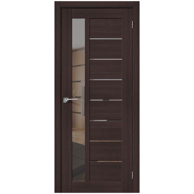 Межкомнатная дверь Порта-27, Wenge Veralinga, Mirox Grey