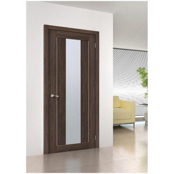 Межкомнатная дверь Порта-25 alu, Wenge Veralinga, Magic Fog