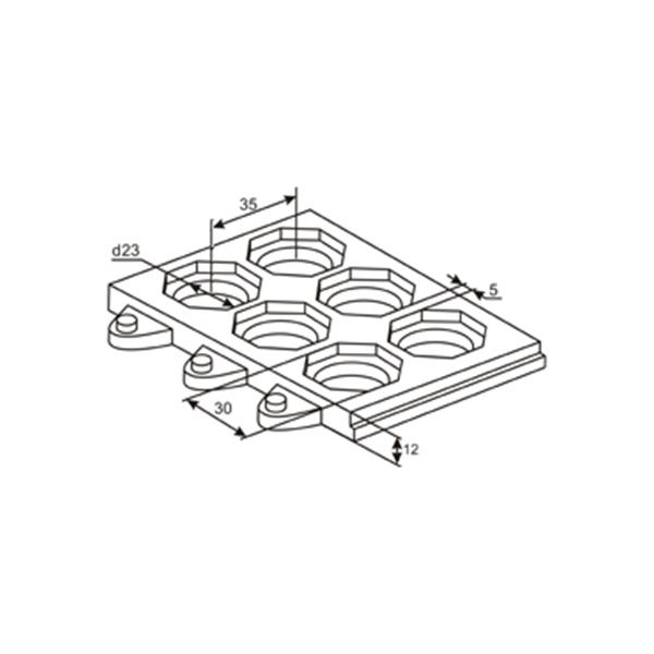 Грезезащитный резиновый мат для ресторанов 915х915х12 мм черный