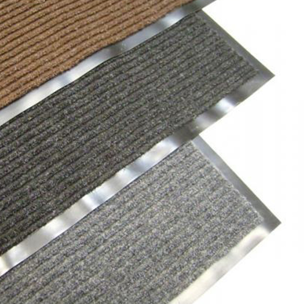 Грязезащитный ворсовый коврик Line 1200×800 мм серый
