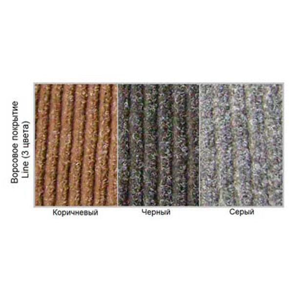 Грязезащитный ворсовый коврик Line 1200×800 мм коричневый
