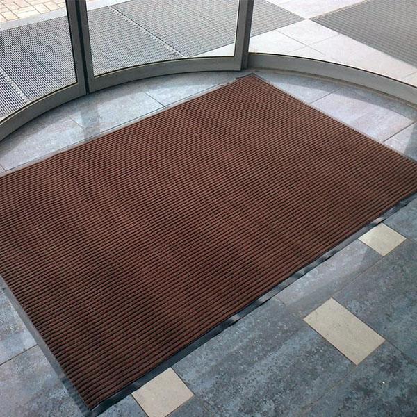Грязезащитный ворсовый коврик Line 1500×900 мм черный