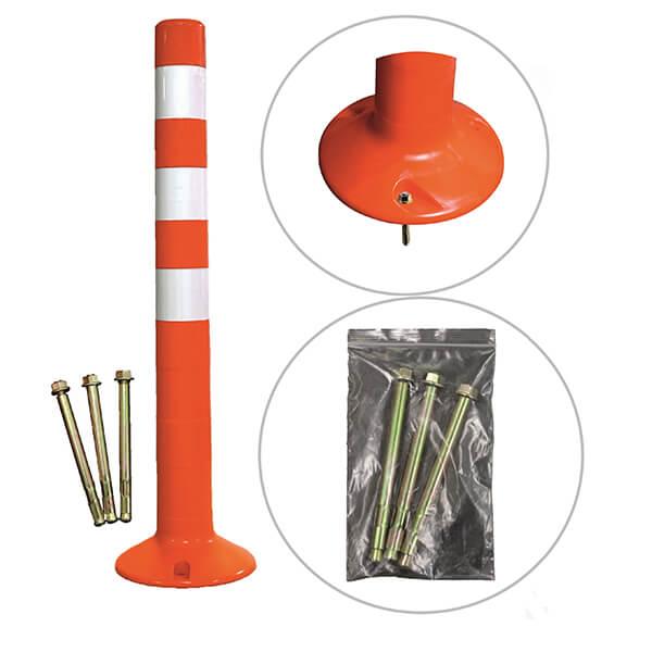 Парковочный столбик сигнальный упругий с крепежом ССУ-750.000-К СБ