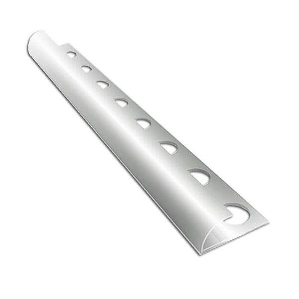 Алюминиевый профиль для внешнего полукруглого угла УВП-09-СГ серебро/глянцевый