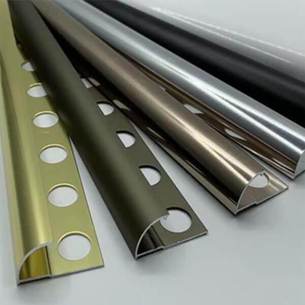 Алюминиевый профиль для внешнего полукруглого угла УВП-09-ЗМ золото/матовый