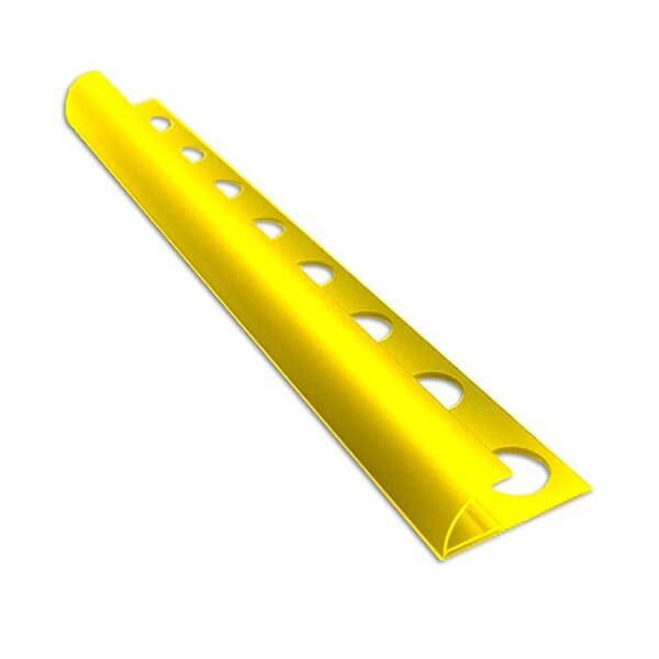 Алюминиевый профиль для внешнего полукруглого угла УВП-09-ЗГ золото/глянцевый