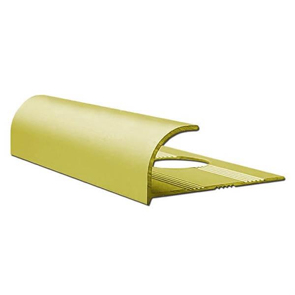 Алюминиевый профиль для внешнего угла в четверть круга УВЧ-09-ЗМ золото/матовый