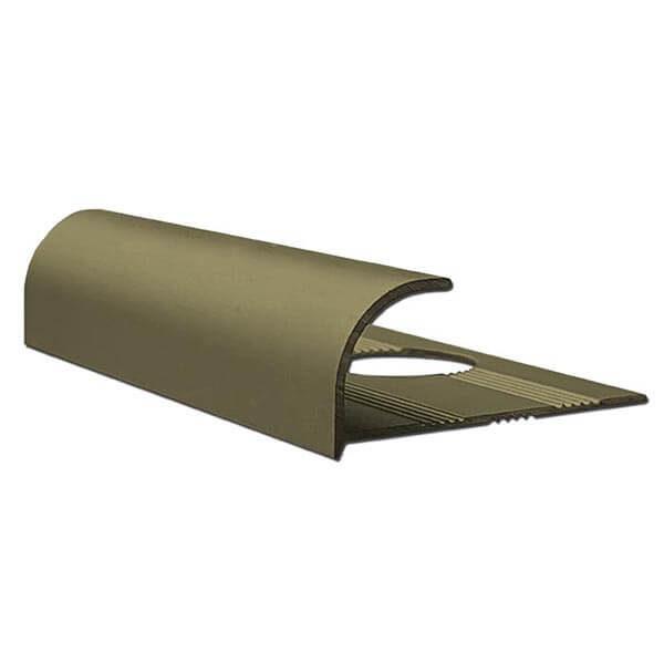 Алюминиевый профиль для внешнего угла в четверть круга УВЧ-09-ШМ шампань/матовый