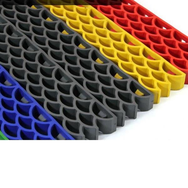 Грязезащитные модульные напольные покрытия Барьер 14 395x50x14 серый металик