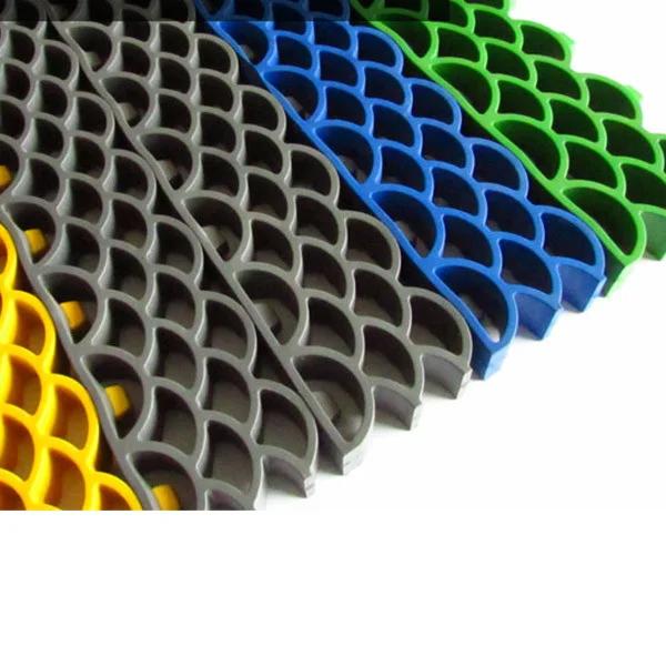 Грязезащитные модульные напольные покрытия Барьер 14 395x50x14 зеленый