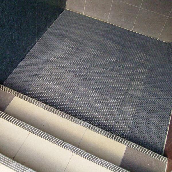 Грязезащитные модульные напольные покрытия Барьер 14 395x50x14 коричневый