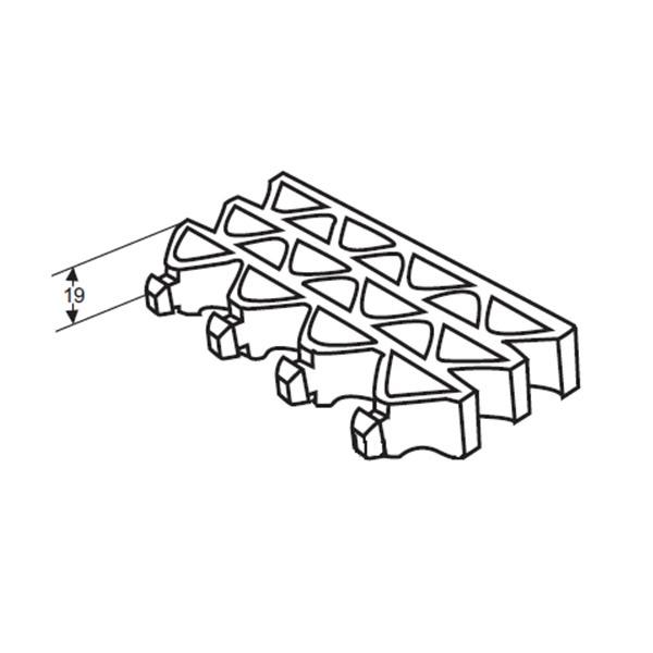 Грязезащитные модульные напольные покрытия Барьер 19 395x50x19,4 серый металик