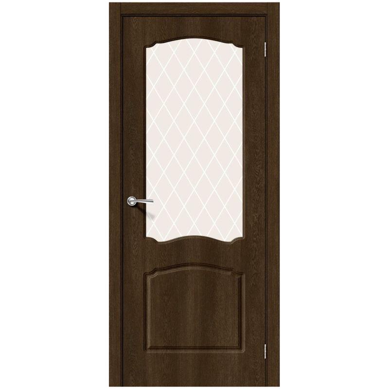 Межкомнатная дверь Альфа-2, Dark Barnwood, White Сrystal
