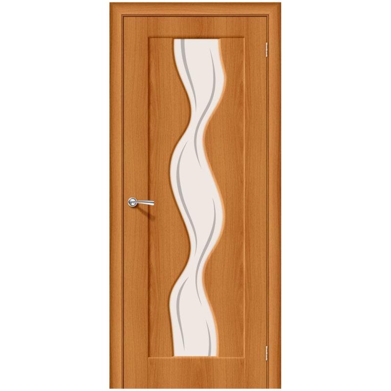 Межкомнатная дверь Вираж-2, Milano Vero, Art Glass
