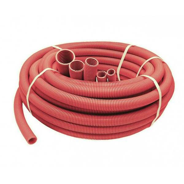 Труба защитная двустенная 200 мм, красный