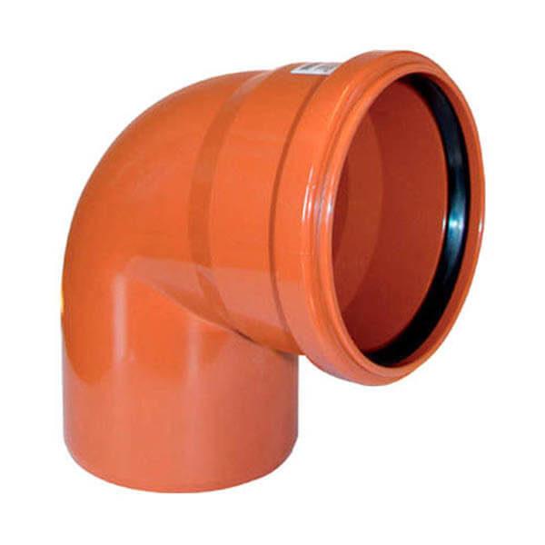 Отвод для трубы наружной канализации 200 мм, 87˚