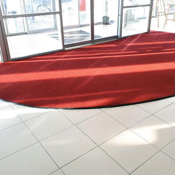 Грязезащитный ворсовый коврик Цикада красный