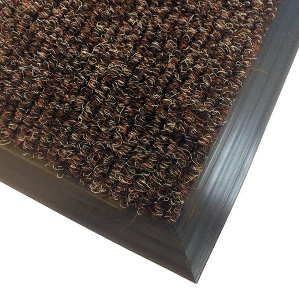 Грязезащитный ворсовый коврик Цикада 13 мм коричневый
