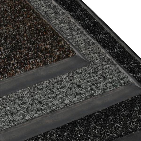 Грязезащитный ворсовый коврик Цикада коричневый