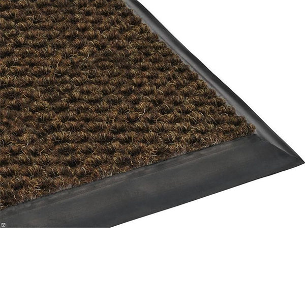 Грязезащитный ворсовый коврик Райс 9,2 мм коричневый