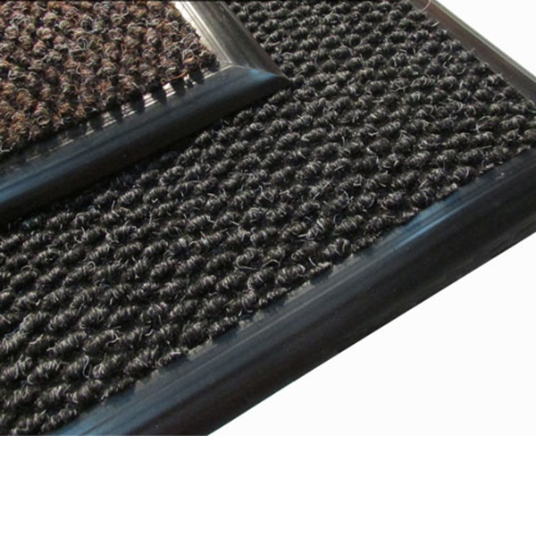 Грязезащитный ворсовый коврик Райс коричневый