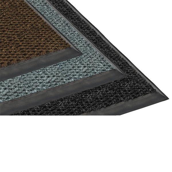 Грязезащитный ворсовый коврик Райс 9,2 мм красный