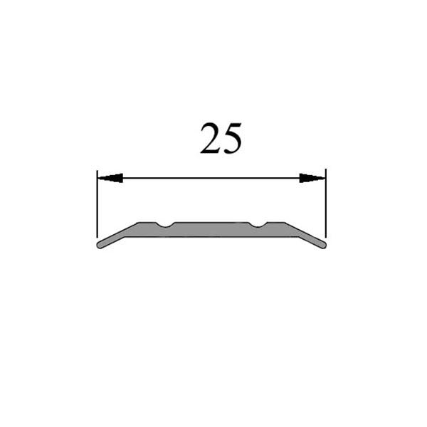 Анодированный алюминиевый порог Стык-25