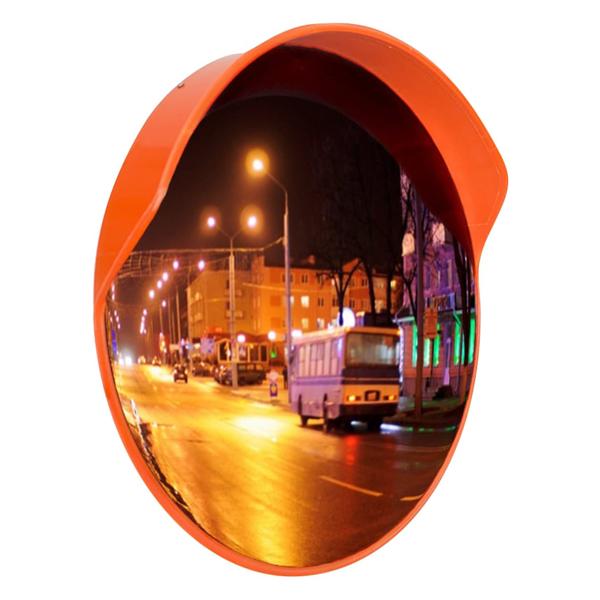 Зеркало сферическое с козырьком ЗС-600