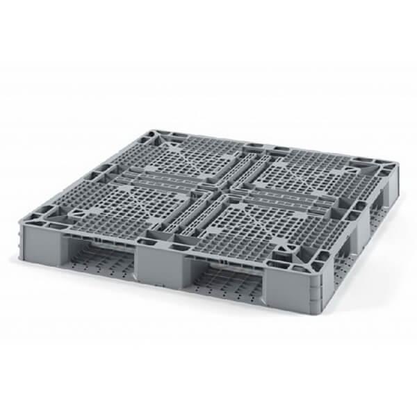 Поддон полимерный перфорированный 1050х1050х120 мм на 6 полозьях