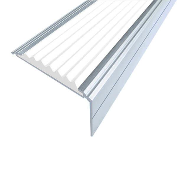 Противоскользящий анодированный алюминиевый угол-порог Премиум 50 мм 1,5 м белый