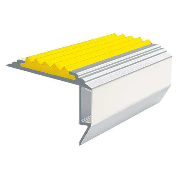 Противоскользящий алюминиевый анодированный угол-порог GlowStep-45 2,0 м желтый, профиль цветной