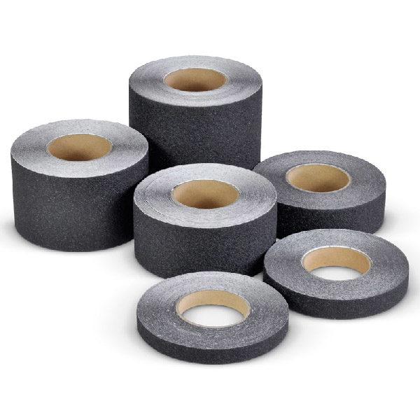 Противоскользящая абразивная черная лента SlipStop 60-80 grit, 18.3 м 500 мм