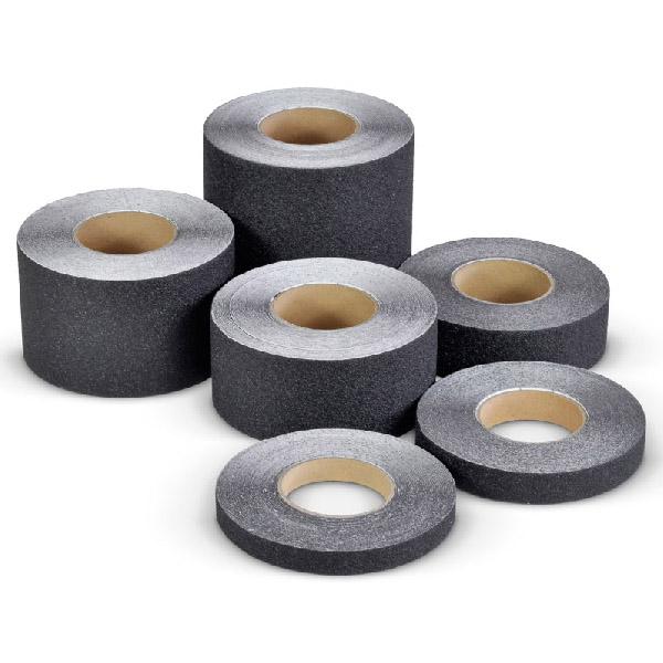 Противоскользящая абразивная черная лента SlipStop 60-80 grit, 18.3 м 25 мм