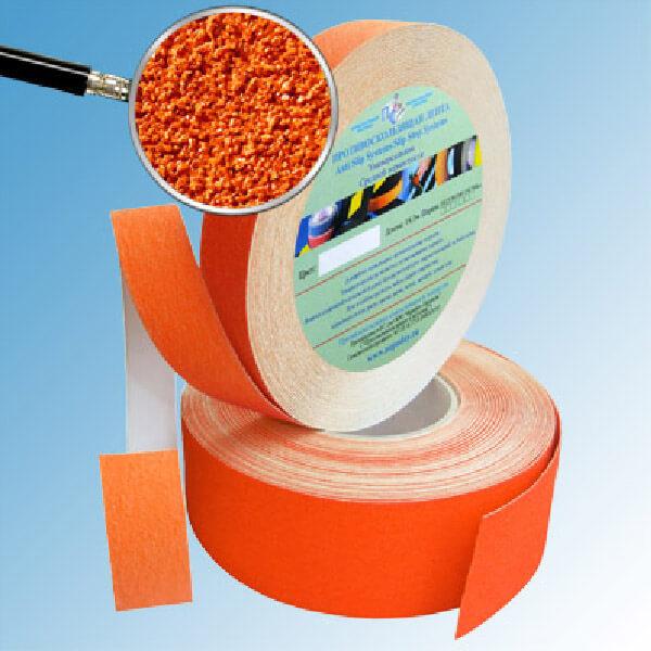 Противоскользящая абразивная лента AntiSlip Systems 60 grit, 50 мм, 18.3 м оранжевый