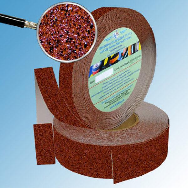 Противоскользящая абразивная лента AntiSlip Systems 60 grit, 50 мм, 18.3 м коричнево-черный мрамор