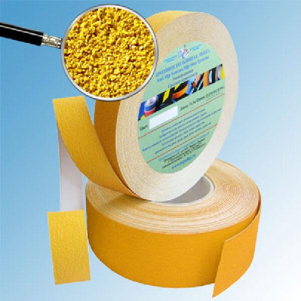 Противоскользящая абразивная лента AntiSlip Systems 60 grit, 25 мм, 18.3 м желтый