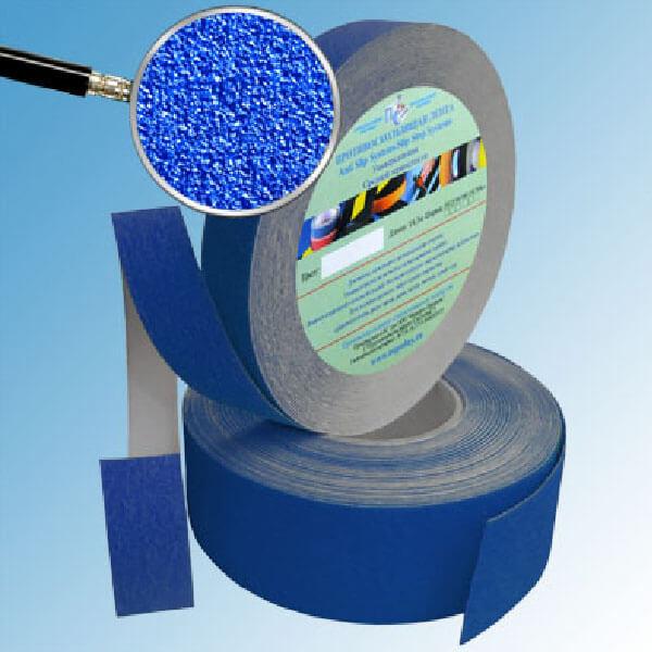 Противоскользящая абразивная лента SlipStop 60-80 grit 50 мм, 18,3 м синий