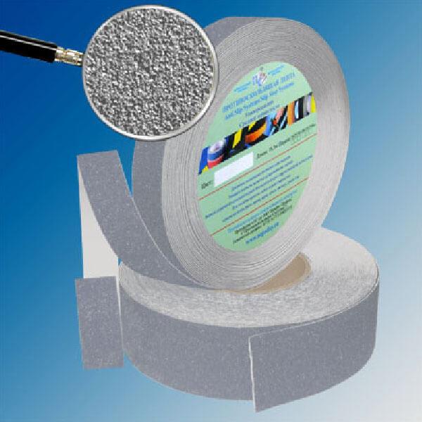 Противоскользящая абразивная лента SlipStop 60-80 grit 50 мм, 18,3 м серый