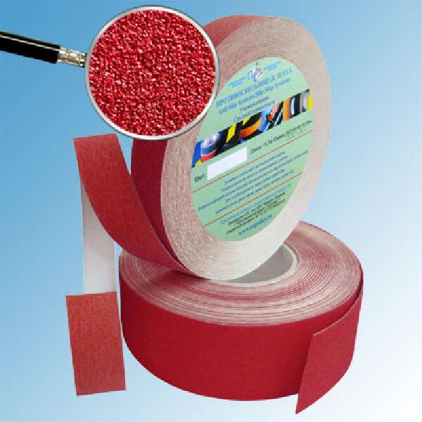 Противоскользящая абразивная лента SlipStop 60-80 grit 50 мм, 18,3 м красный