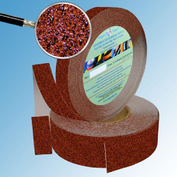 Противоскользящая абразивная лента SlipStop 60-80 grit 50 мм, 18,3 м коричнево-черный мрамор