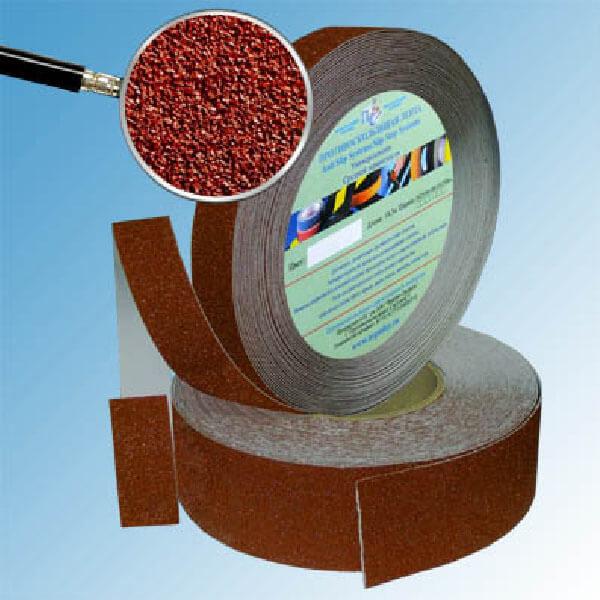 Противоскользящая абразивная лента SlipStop 60-80 grit 50 мм, 18,3 м коричневый