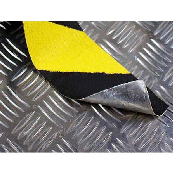 Противоскользящая абразивная формуемая лента Antislip Systems 25 мм черно-желтый