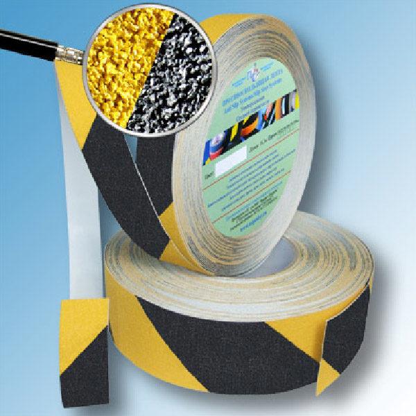 Противоскользящая абразивная формуемая лента Antislip Systems 50 мм черно-желтый