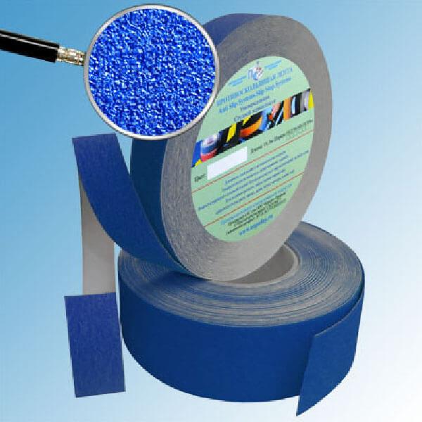 Противоскользящая абразивная лента SlipStop 60-80 grit 25 мм, 18,3 м синий