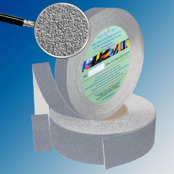Противоскользящая абразивная лента SlipStop 60-80 grit 25 мм, 18,3 м серый